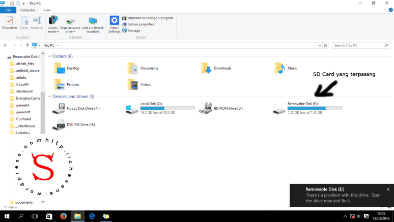 Minta scan and fix di Windows 10